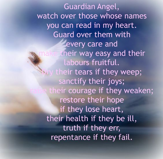 prayers for guardian angels